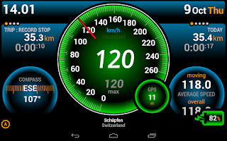 Screenshot of Ulysse Speedometer