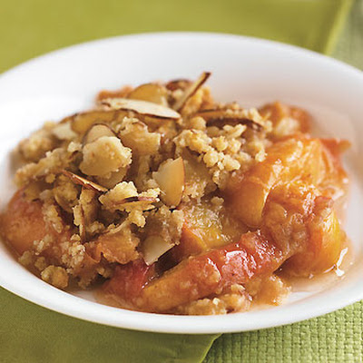 Nectarine and Almond Crisp