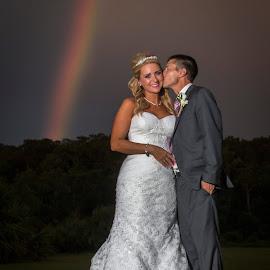 No rain. No rainbows.  by Mitch Kloorfain - People Couples ( bridal, wedding, florida, bride and groom, bride, groom, rainbow )