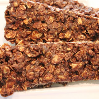 Microwave Chocolate Peanut Butter & Oat Snack Bars