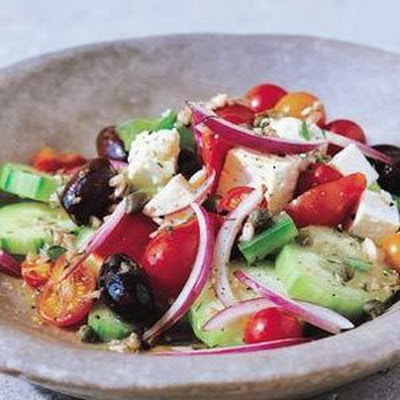 Layered Greek Vegetable Salad