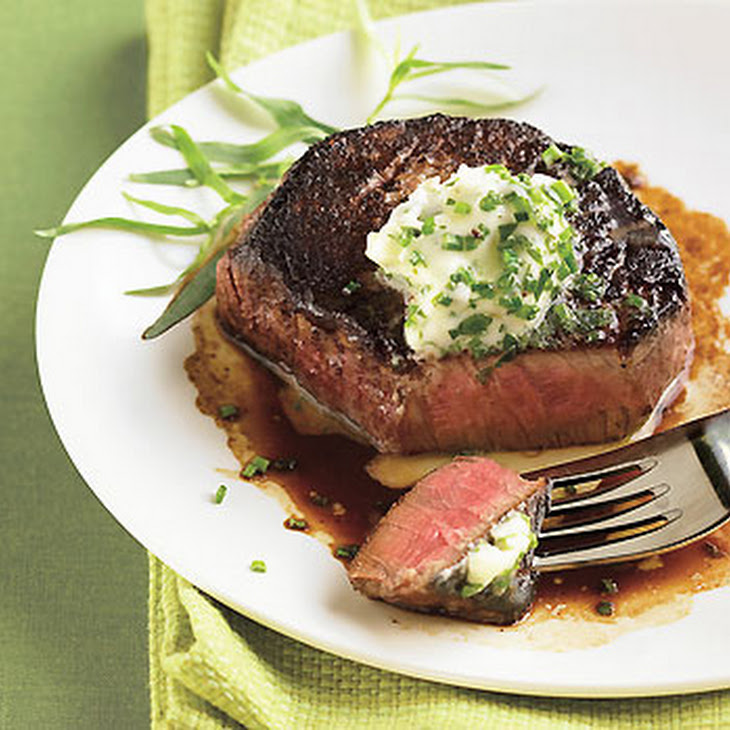 Porcini-Crusted Filet Mignon with Fresh Herb Butter