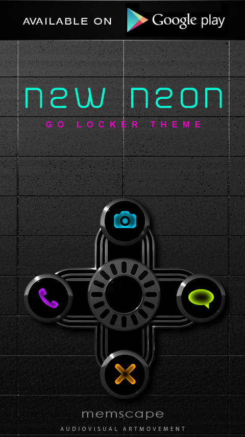 NEW NEON Next Launcher Theme Screenshot 6