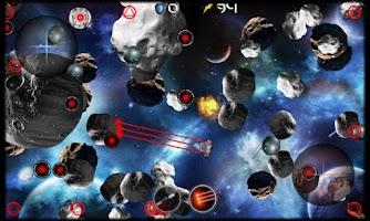 Screenshot of Asteroid Wars