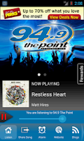 Screenshot of 94.9 The Point, Sound of Now