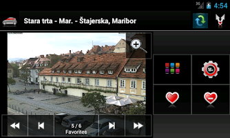 Screenshot of Kamere Slovenija