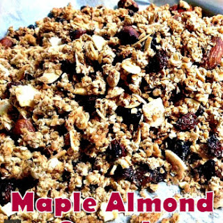Easy Home Made Maple Almond Granola
