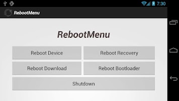 Screenshot of Reboot Menu [No Ads]