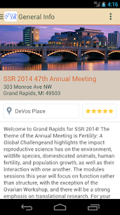 SSR 47th Annual Meeting - screenshot
