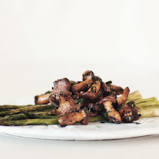 Roasted Asparagus and Chanterelle Fricassée