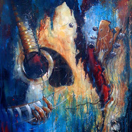 Music In My Mind...3 by Sowmen Chanda - Painting All Painting