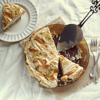Caramelized Banana Peanut Butter Coconut Mousse Pie