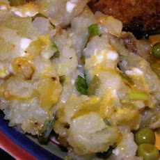 Twice-Baked Potato Casserole With Green Chiles
