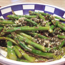 Roast Asparagus With Garlic and Capers