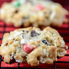 Loaded Christmas Cowboy Cookies