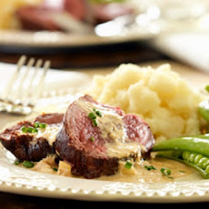 Beef Tenderloin with Goat Cheese Sauce