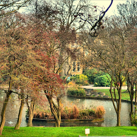 Greenhead park by Nic Scott - City,  Street & Park  City Parks ( water, park, greenhead park, lake, huddersfield )