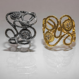 Rings1 by Dimitris Stenidis - Artistic Objects Jewelry ( studio, mirror, dsphotography, jewells, athens, jewelry, stenidis, rings, gold, dimitris, black,  )