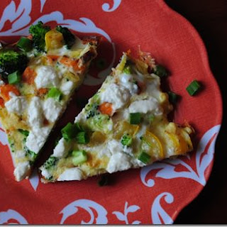 Vegetable Goat Cheese Frittata
