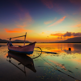 Morning Bound by Budi Astawa - Transportation Boats ( bali, karangsewu, west bali, gilimanuk )