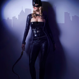 Cat woman by Thinkcreative Thinkbox - Digital Art People ( cat, woman )