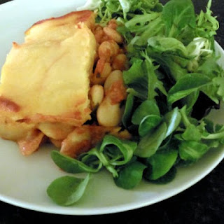 Butter Bean Polenta Pie