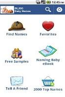 Screenshot of 30,000 Baby Girls Names FREE!