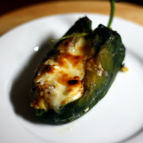 Baked Chile Rellenos with Corn and Crema