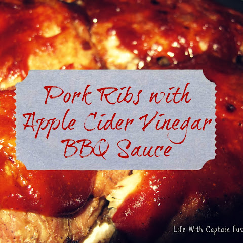 Pork Ribs with Apple Cider Vinegar BBQ Sauce & Potato Salad