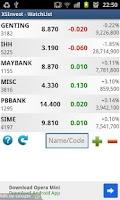 Screenshot of XSInvest - Bursa Malaysia