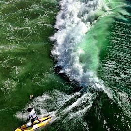 Huntington Beach Surfer by Erik Rodriguez - Sports & Fitness Surfing