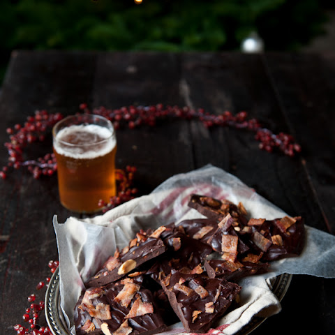 Beer Candied Bacon Dark Chocolate Bark