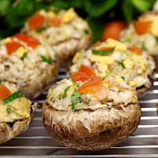 Portobello Mushrooms With Parmesan-Herb Stuffing Recipes ...