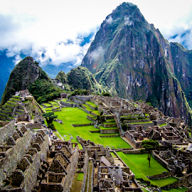 Machu Picchu Position 1 by Jared Stahl - Buildings & Architecture Public & Historical ( conquistador, peru, latin america, green, cusco, city, history, mountains, jungle, machu picchu, ruins, stones, incas, rocks )