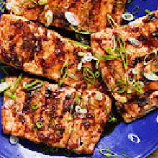 Grilled Teriyaki-Glazed Salmon
