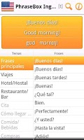 Screenshot of Phrasebook English (US) Lite