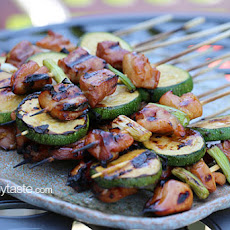 Chicken and Zucchini Yakitori