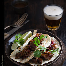 Chipotle Shredded Pork Tacos with Raspberry Habanero Jam