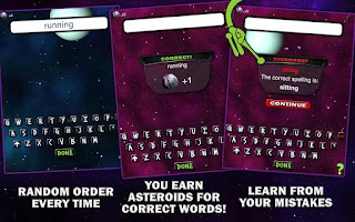 Screenshot of Spelling Space - 3rd Grade