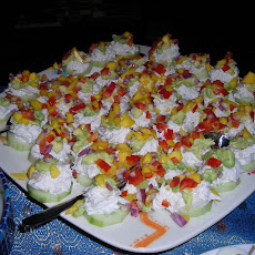 Mini Crab, Avocado, and Mango Stacks