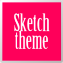 Go Sketch Theme Pink icon
