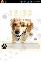 Screenshot of GO Locker Cute Dog Theme v2