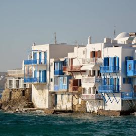 Litlle Venice, Mikonos. by Jose  Olimpio Castro Neto - Landscapes Travel
