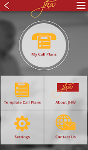 JHW Call Plan - screenshot