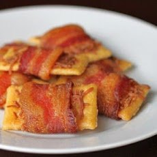 Bacon Wrapped Club Crackers