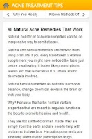 Screenshot of Acne Treatment Tips