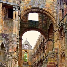 Jedburgh Abbey by Tyrell Heaton - City,  Street & Park  Historic Districts ( jedburgh abbey, iphone )