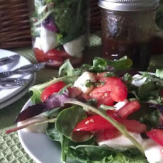Fresh Mozzarella & Tomato Salad With Balsamic Vinaigrette