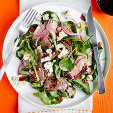Steak & Spinach Salad with Bacon Bits & Blue Cheese