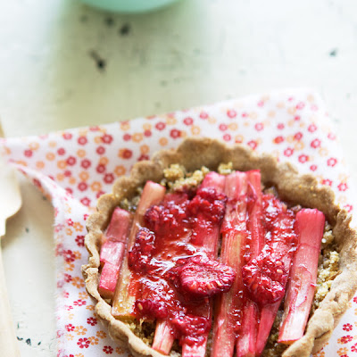 Rustic Rhubarb And Raspberry Tartlets With Ginger And Lime